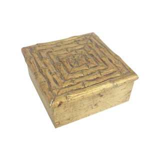 Vintage Gilt Gold Faux Bamboo Box