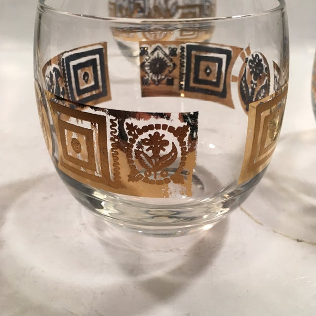 Vintage Culver Roly Poly Glasses - Set of 5 - Image 5 of 9