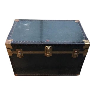 Taylor Fibre Co. Genuine Vulcanized Steamer Trunk