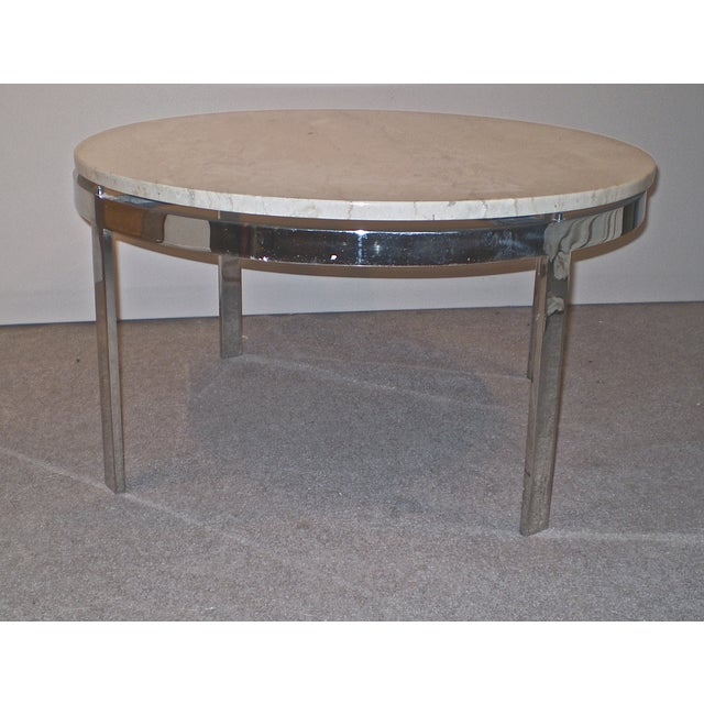 Chrome Base Stone Top Coffee Side Table Chairish