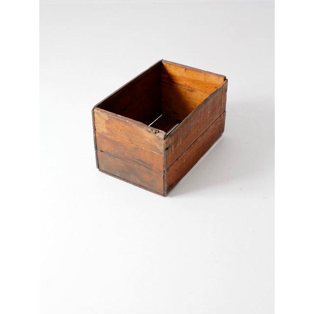 Vintage Apple Crate Wood Box - Image 4 of 7