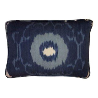 Blue Schumacher Ikat Pillow