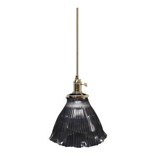 Antique Holophane Pendant Light