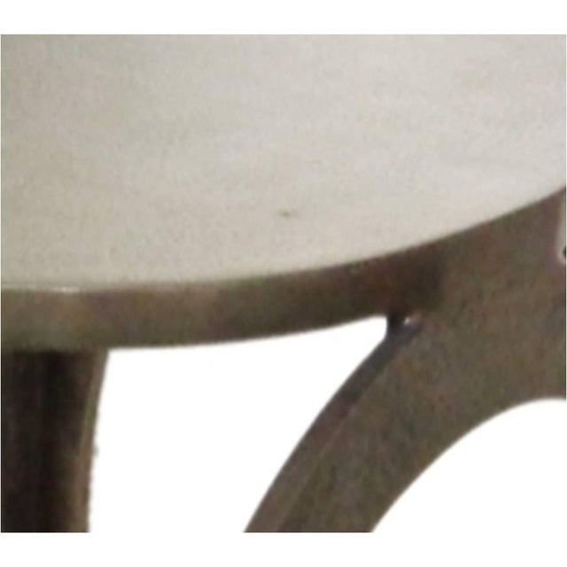 Aluminium Hammered Stool - Image 2 of 4