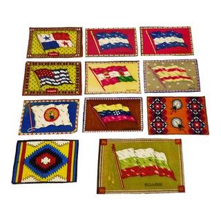 Vintage Flag 'Cigarette Silks' - Set of 11