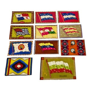 Vintage Flag 'Cigarette Silks' - Set of 11