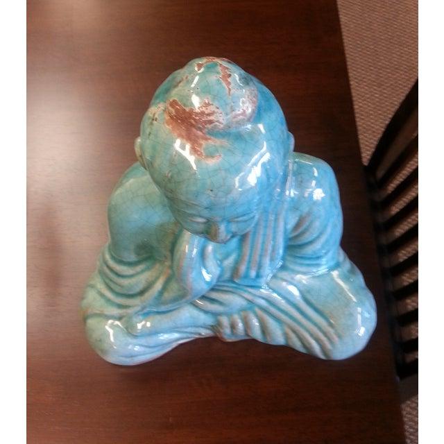 Turquoise Sitting Buddha Statue - Image 7 of 8