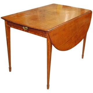 1820 English Mahogany Empire Style Pembroke Table