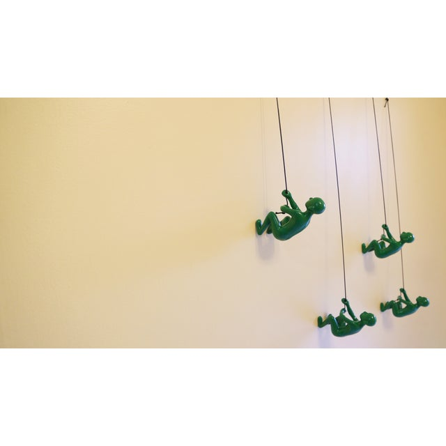 Green Climbing Man Wall Art - Set of 4 - Image 4 of 6