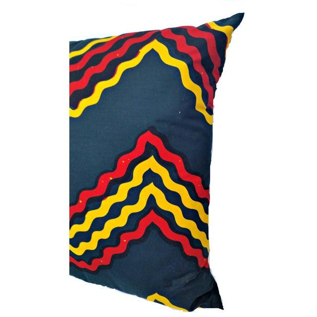 XL African Wax Print Fabric Pillow Chairish