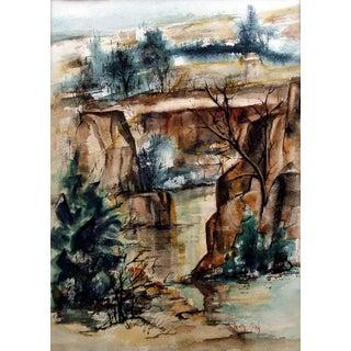 Christy Monk Quartet Falls, Idaho Watercolor
