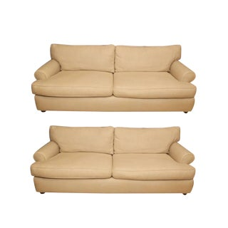 Mitchell Gold Cream Couches - A Pair