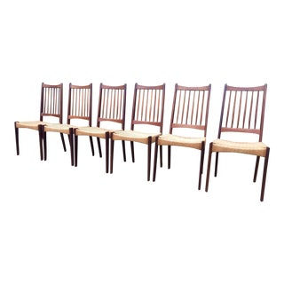 Arne Hovmand Olsen for Modens Kold Danish Teak Dining Chairs - Set of 6