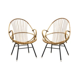 Rohe Noordwolde Bamboo Hoop Chairs - A Pair