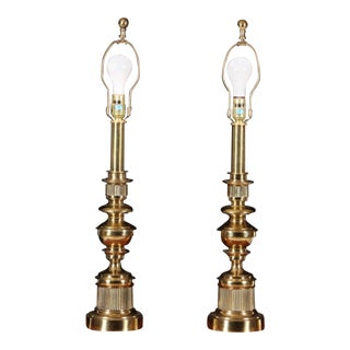 Stiffel Brass Table Lamps - Pair