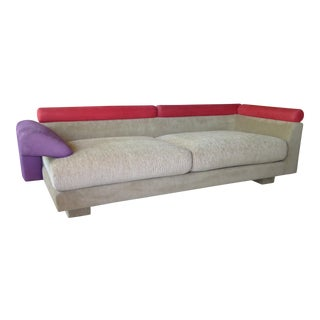 1980s Elegant Post Modern Memphis Inspired Sofa