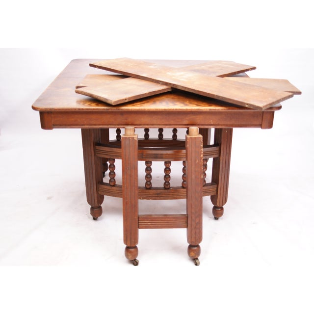 Antique Stick & Ball Dining Table - Image 5 of 7