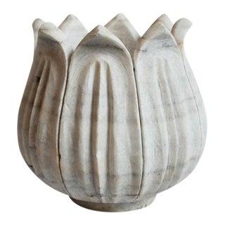 White Marble Tulip Pot