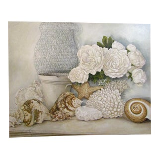 Shells & Floral Original Oil Painting