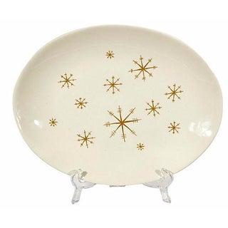 1950s Atomic Gilt Serving Platter