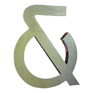 Vintage Mid-Century Chrome Ampersand Sign