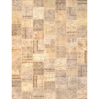 "Pasargad NY Beige Contemporary Patchwork Rug - 9'3"" X 12'1"""