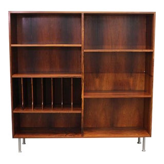 Rosewood Bookcase with Metal Legs, Danish Mid-Century Modern