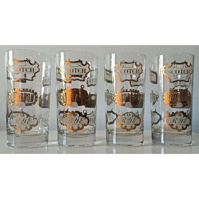 Mid-Century Gilt Scotch Tumblers - Set of 4 - Image 2 of 7