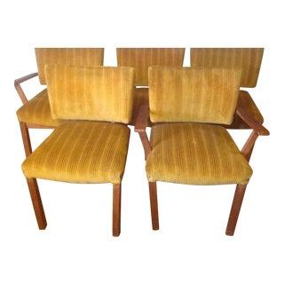 Moller Style Danish Modern Teak Dining Chairs - Set of 5