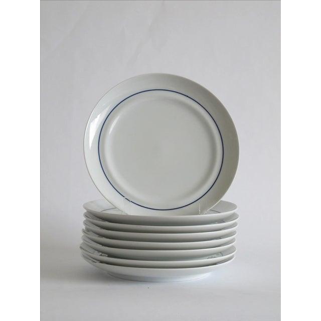 Image of German Blue & White Dessert Plates - Set of 8