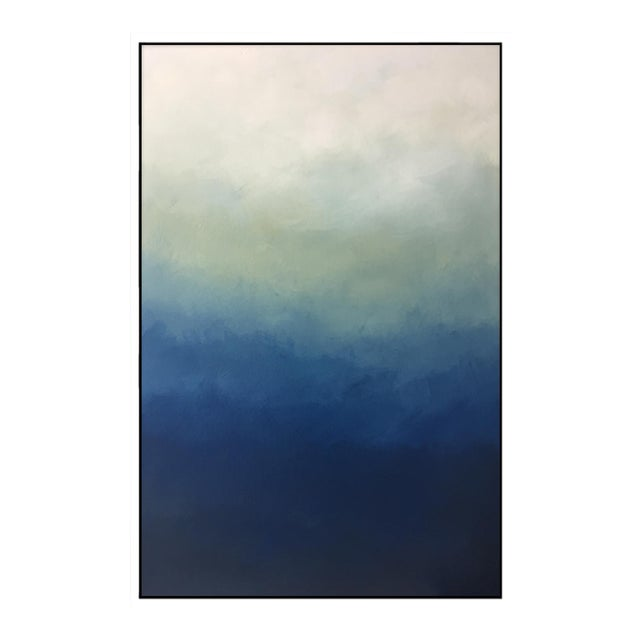 """""""Abstract Blue Ombre"""" Framed Giclée - Image 1 of 3"""