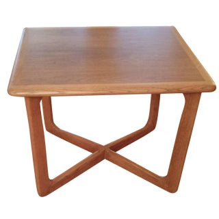 Lane Mid-Century Modern Walnut & Oak Side Table