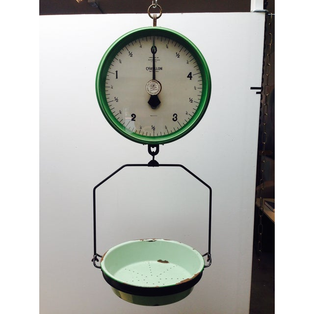 Amazing Vintage Chatillon Green Hanging Scale - Image 2 of 5