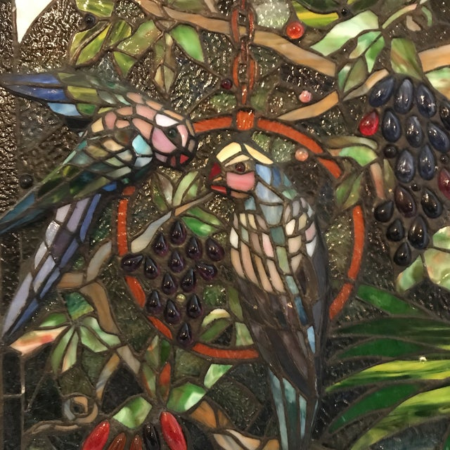 Tiffany Style Stained Glass Plaque - Image 7 of 7