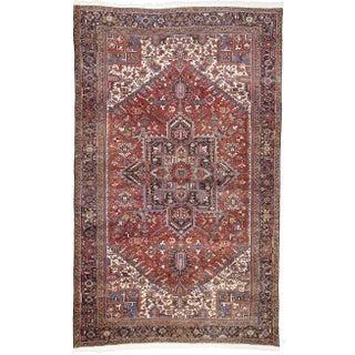Vintage Persian Heriz Decorative Rug - 9′6″ × 15′7″