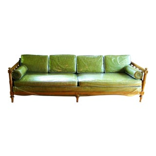 American of Martinsville Burl Panel Arm Sofa
