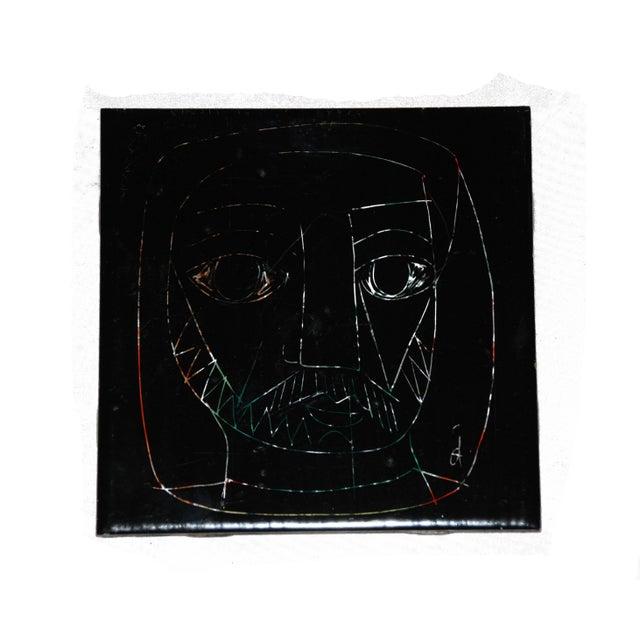 1960s Abstract Mid Century Tile Of Mans Face Chairish