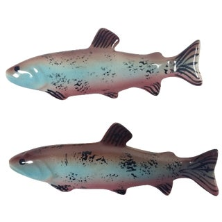 Rainbow Trout Salt & Pepper Shakers - A Pair