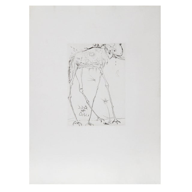 Salvador Dali - Space Elephant Etching - Image 1 of 2