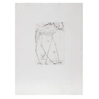Salvador Dali - Space Elephant Etching