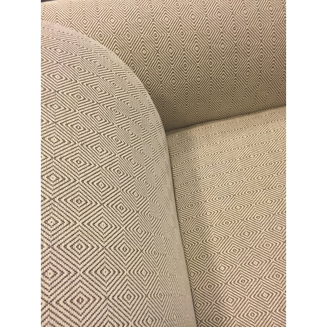 Image of Contemporary Beige Upholstered Sofa
