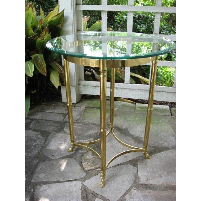 Vintage Brass LaBarge Table - Image 2 of 8