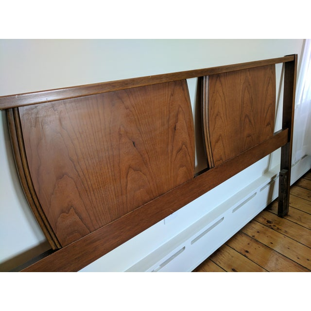 vintage mid century modern full queen headboard chairish. Black Bedroom Furniture Sets. Home Design Ideas
