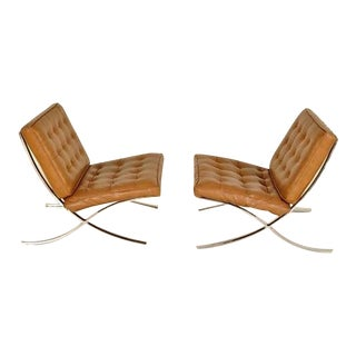 Selig Chrome & Leather Chairs - A Pair