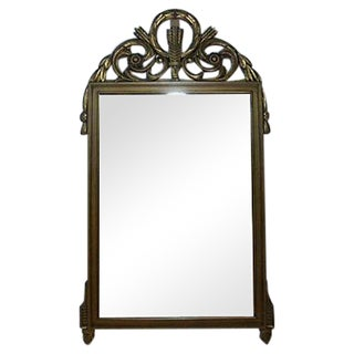 Antiqued Gold Carved Mirror