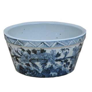 Hand Painted Bowl With Floral Motif