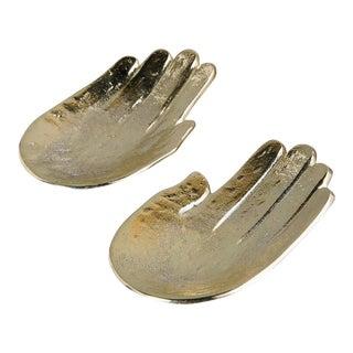 Golden Hands Trinket Dish - A Pair
