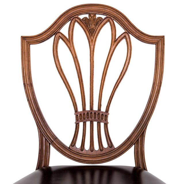 Federal Style Shield Back Dining Chairs Set Of 6 Chairish