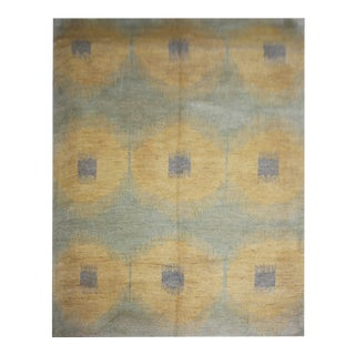 Hand Knotted Ikat Rug by Aara Rugs Inc. - 10′ × 13′11″