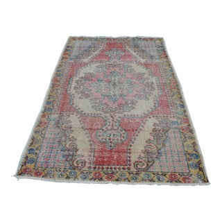 Handwoven Traditional Turkish Rug - 4′5″ × 7′1″